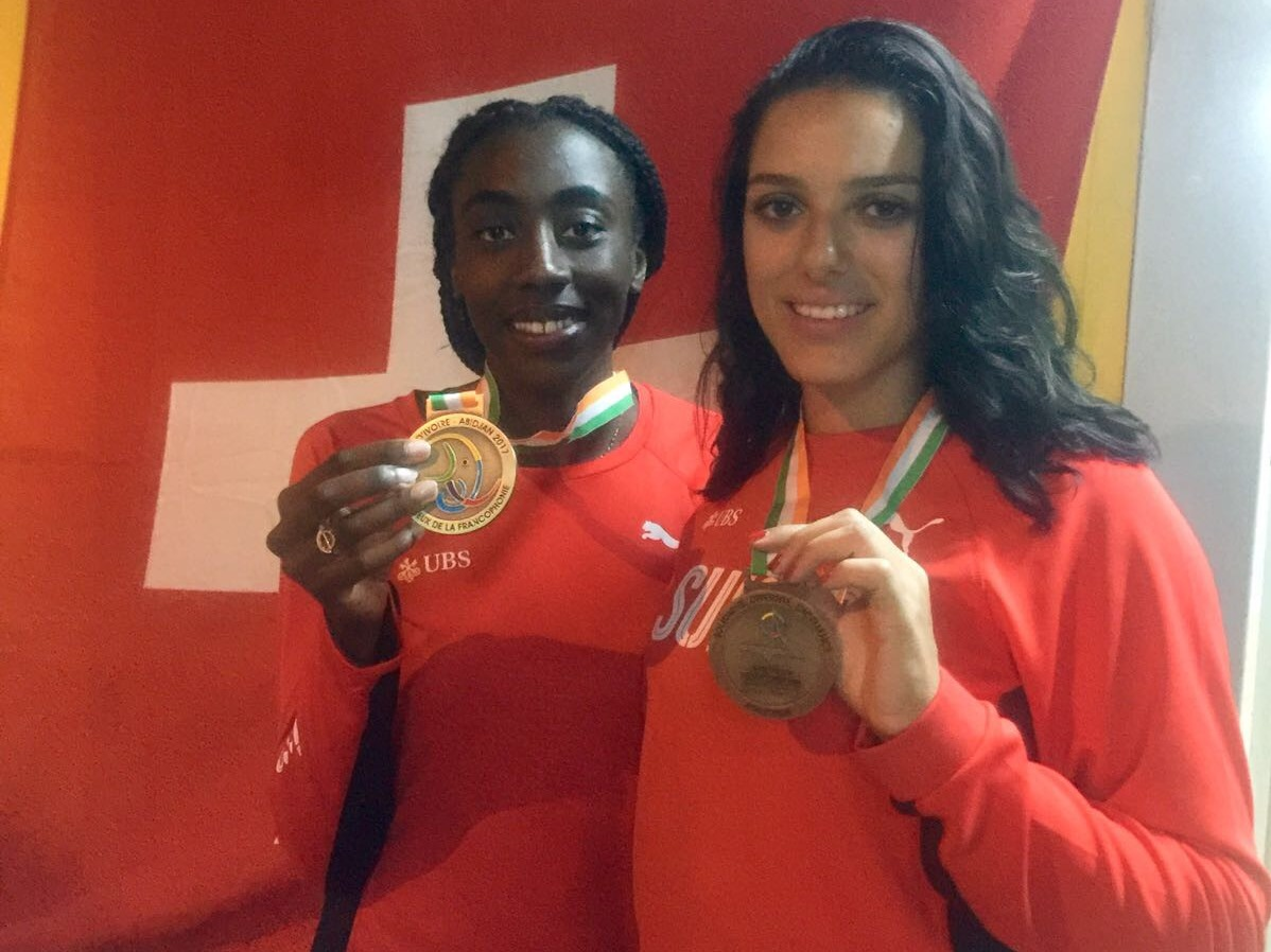 Fatim Affessi. Nadja-Marie Pasternack (Photo: Swiss Athletics)