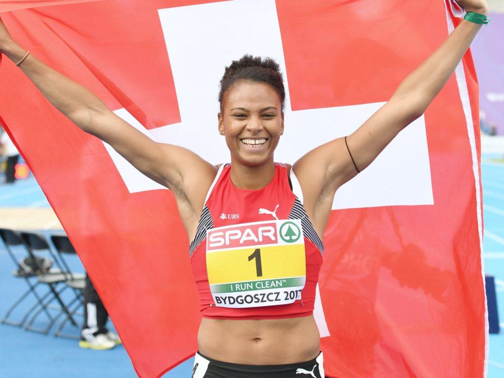 Caroline Agnou gewinnt an der U23-EM 2017 in Bydgoszcz den Siebenkampf (Photo: Iris Hensel)