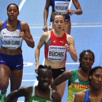Selina Büchel im 800-m-Final an der Hallen-WM 2018 in Birmingham (Photo: Erik van Leeuwen)