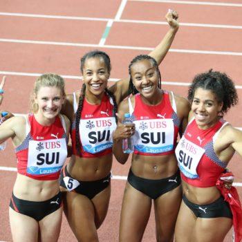 Ajla Del Ponte, Salomé Kora, Sarah Atcho, Mujinga Kambundji (Photo: athletix.ch)
