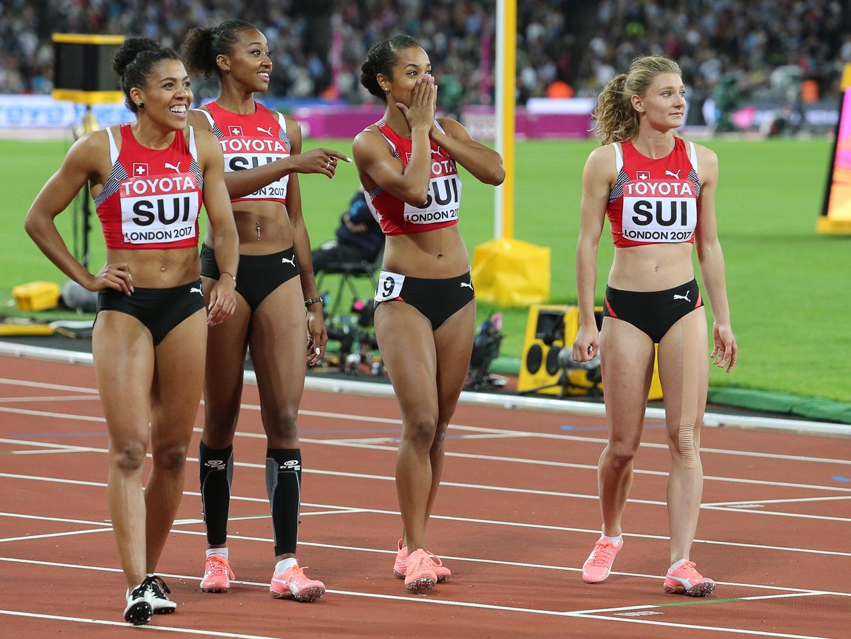 Mujinga Kambundji, Sarah Atcho, Salomé Kora, Ajla Del Ponte (Photo: athletix.ch)