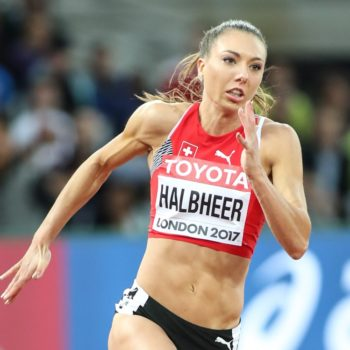 Cornelia Halbheer im 200-m-Vorlauf an der WM 2017 in London (Photo: athletix.ch)