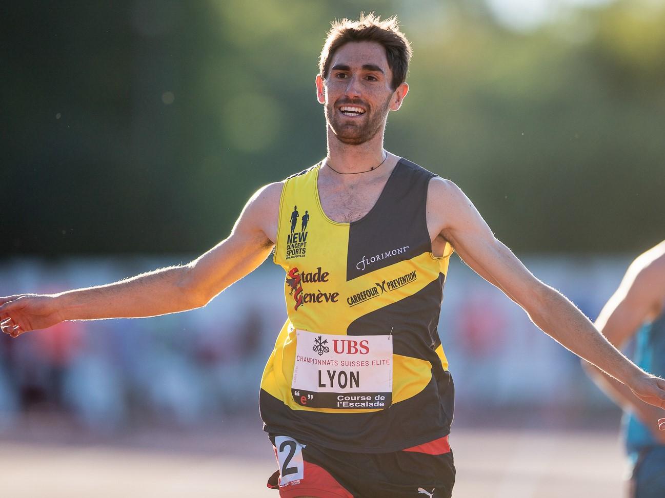 Julien Lyon an der SM Aktive 2016 in Genf (Photo: athletix.ch)