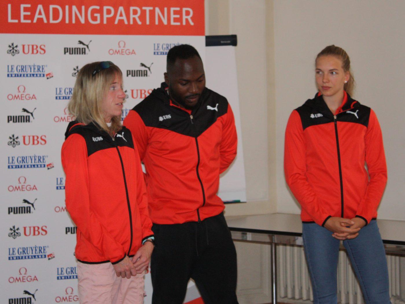 Medienkonferenz 2018 von Swiss Athletics in Zofingen mit Martina Strähl, Alex Wilson und Géraldine Ruckstuhl (Photo: Swiss Athletics)