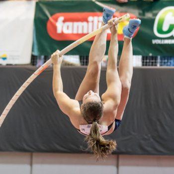 Die Stabhochspringerin Angelica Moser an der Hallen-SM 2018 in Magglingen (Photo: athletix.ch)