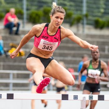 Robine Schürmann am Pfingstmeeting 2018 in Basel (Photo: athletix.ch)