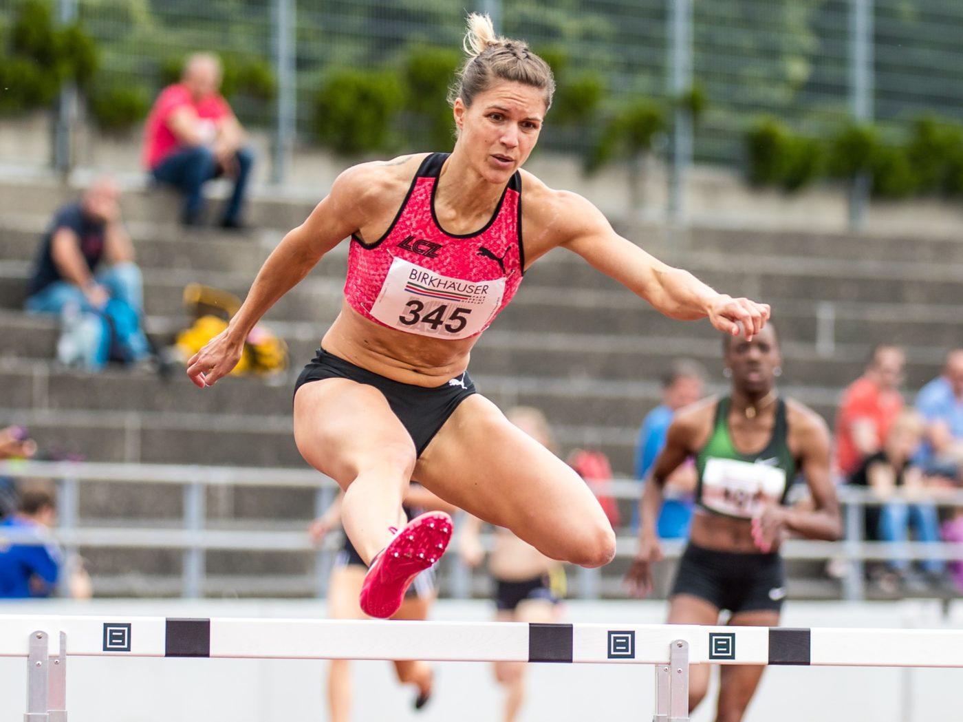Robine Schürmann am Pfingstmeeting 2018 in Basel (Photo: athletix.ch)