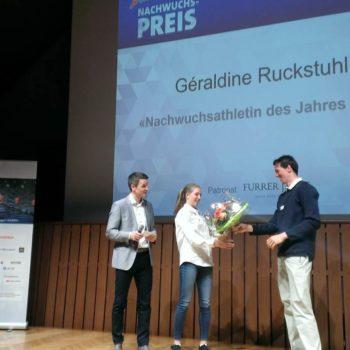 Géraldine Ruckstuhl, Sporthilfe-Nachwuchspreis 2017. (Photo: Swiss Athletics)