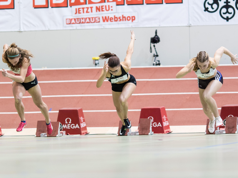 Sprinterinnen an der Hallen-SM 2018 in Magglingen (Photo: athletix.ch)