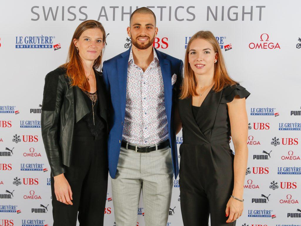 Lea Sprunger, Kariem Hussein, Géraldine Ruckstuhl (Photo: athletix.ch)