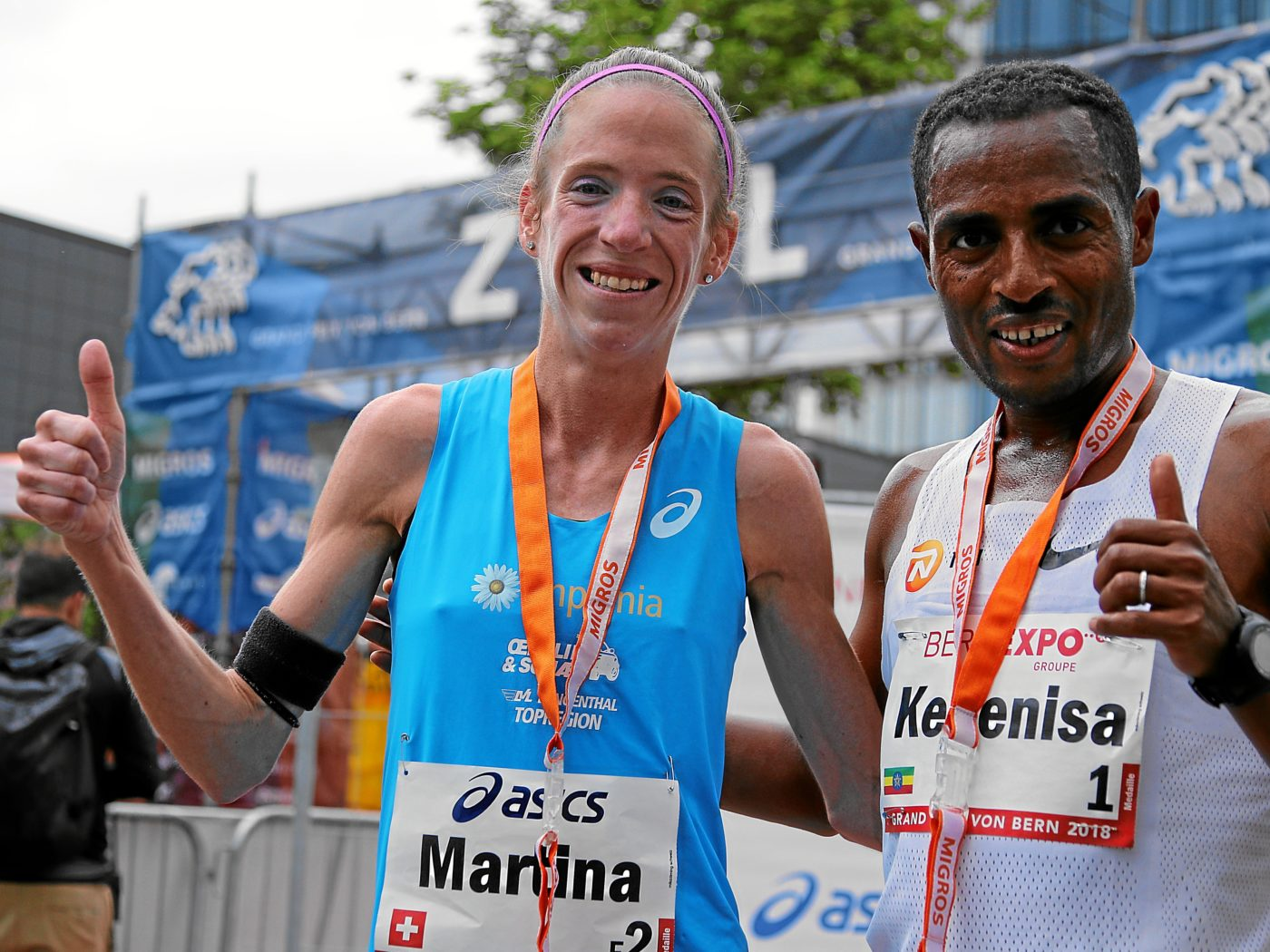 Martina Strähl, Kenenisa Bekele am GP Bern 2018 (Photo: swiss-image.ch)